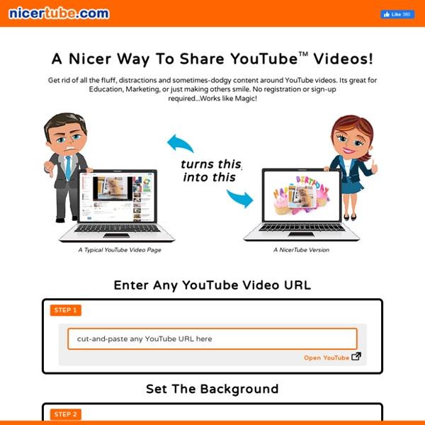 NicerTube.com : A Nicer Way To Share YouTube™ Videos