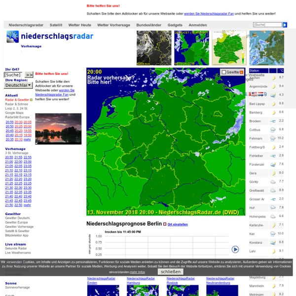 Aktuelles NiederschlagsRadar Deutschland - RegenRadar Deutschland - Wetter