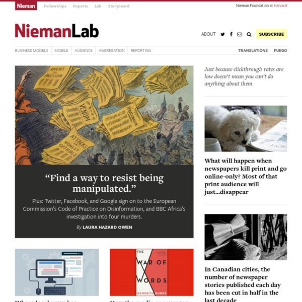 Nieman Journalism Lab » Pushing to the Future of Journalism