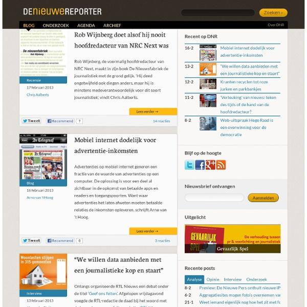 De Nieuwe Reporter - Journalistiek & Nieuwe Media