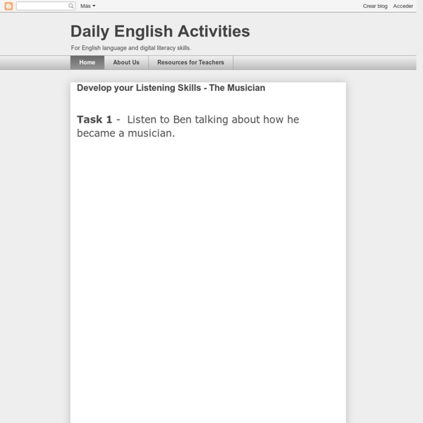 Nik's Daily English Activities