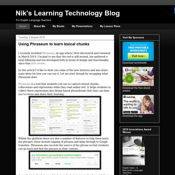 Nik's Learning Technology Blog