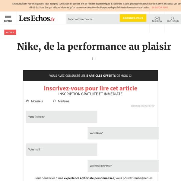 Nike, de la performance au plaisir
