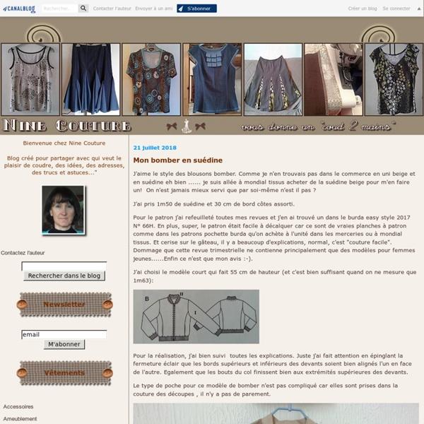 7- Modifier un patron au niveau de l'emmanchure et de la manche - Nine Couture