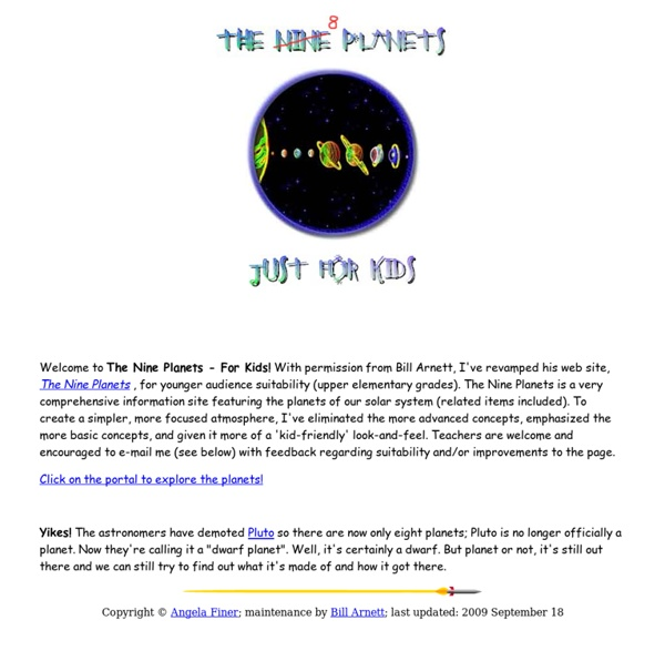 The Nine Planets Astronomy For Kids Pearltrees