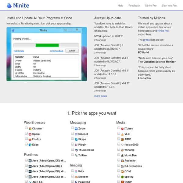 Ninite - Install or Update Multiple Apps at Once