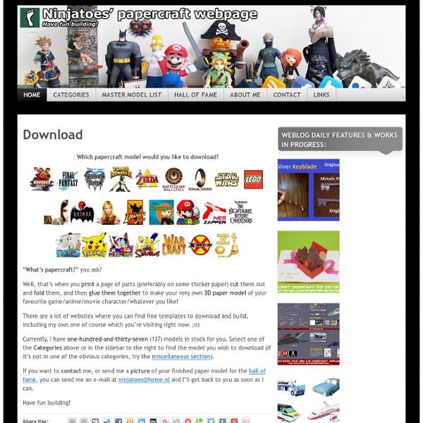 Ninjatoes' papercraft webpage