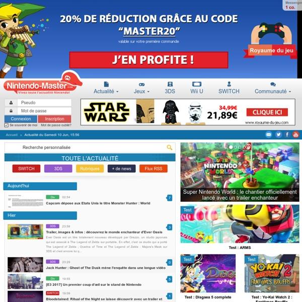 Nintendo Master - L'actualité Nintendo 24/7: Wii U, 3DS, Console Virtuelle