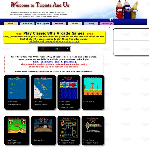 Play your favorite 1980s classic video games online  FREE Arcade