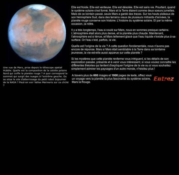 Nirgal.net : De la planète rouge à l'origine de la vie [Accueil]