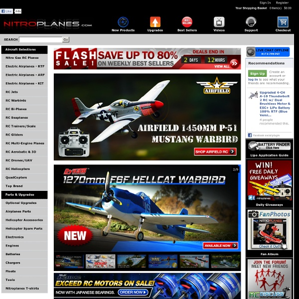 Nitroplanes.com Nitro Model R/C Planes RC Airplane Electric Brushless Nitro Gas Jet Aircraft Helicopter