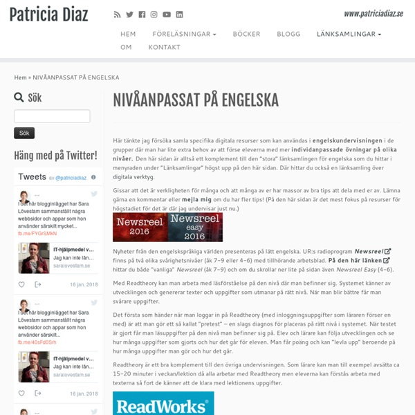 NIVÅANPASSAT PÅ ENGELSKA – Patricia Diaz