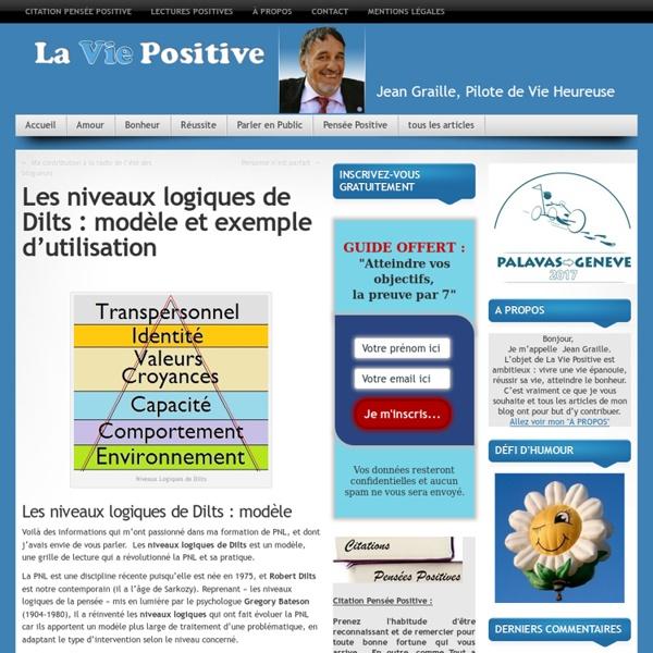 Dilts : modèle et exemple
