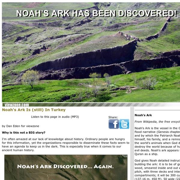 Noah's Ark Discovered - Again