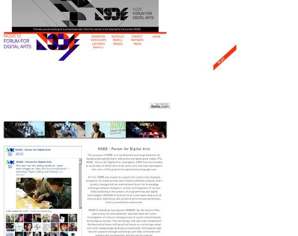 NODE10 - Forum for Digital Arts - Welcome