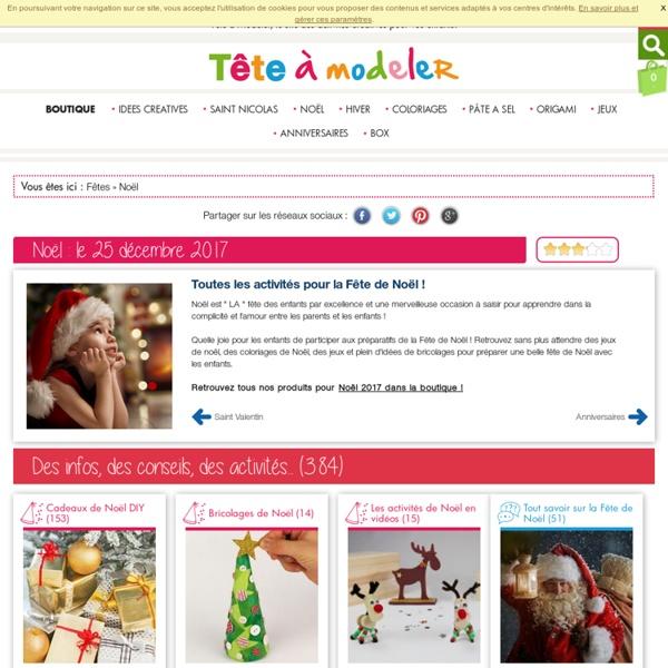NOEL 2012: bricolage de Noel et activités de Noel pour préparer noël avec votre enfant - Noel