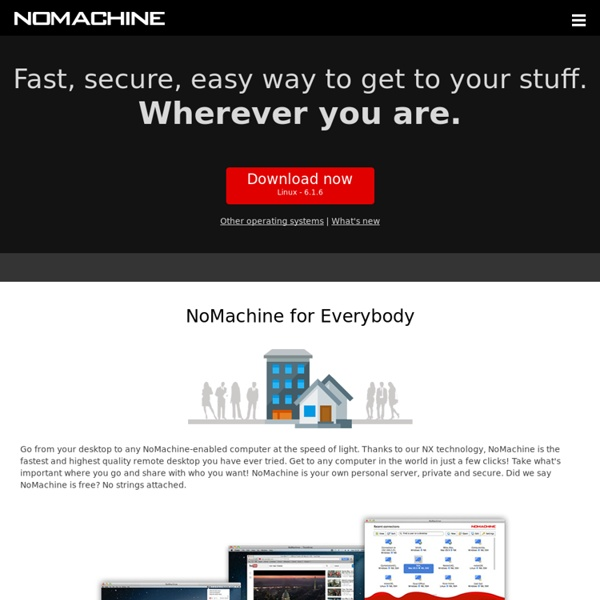NoMachine - Free Remote Desktop For Everybody