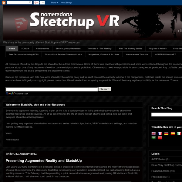 SketchUp and Vray Resources