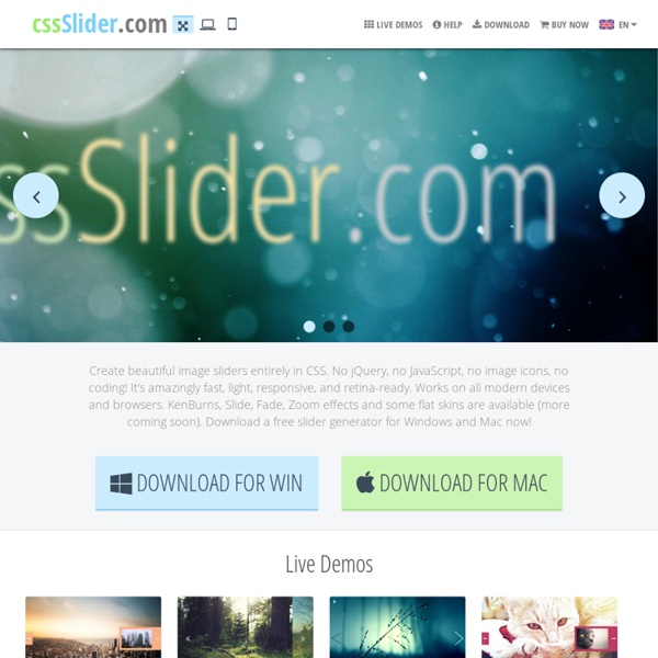 Non jQuery Slider, pure CSS image slider
