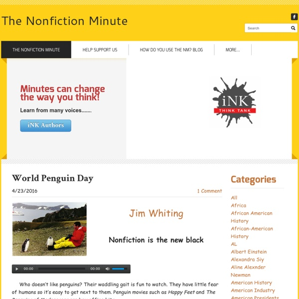 The Nonfiction Minute - Blogs for Students and Teachers