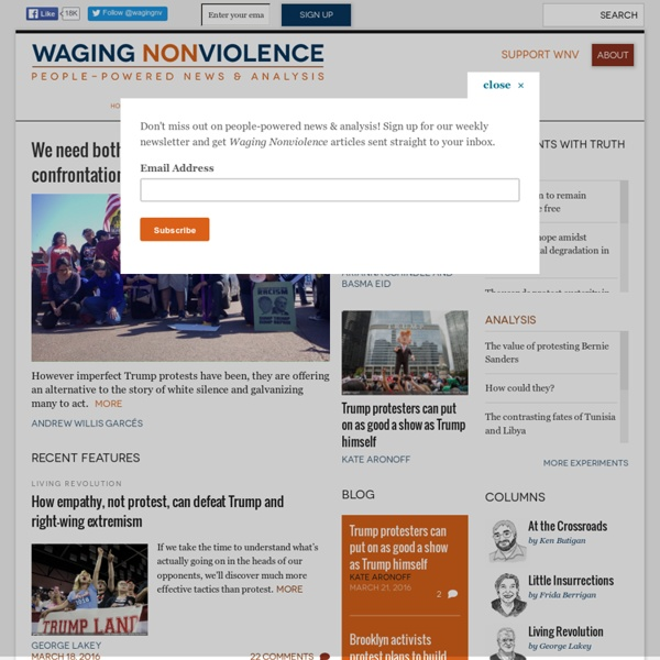Waging Nonviolence - People-Powered News and Analysis