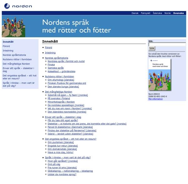 Nordens språk med rötter och fötter
