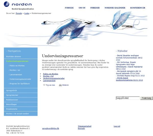 Undervisningsresurser — Nordisk Sprogkoordination