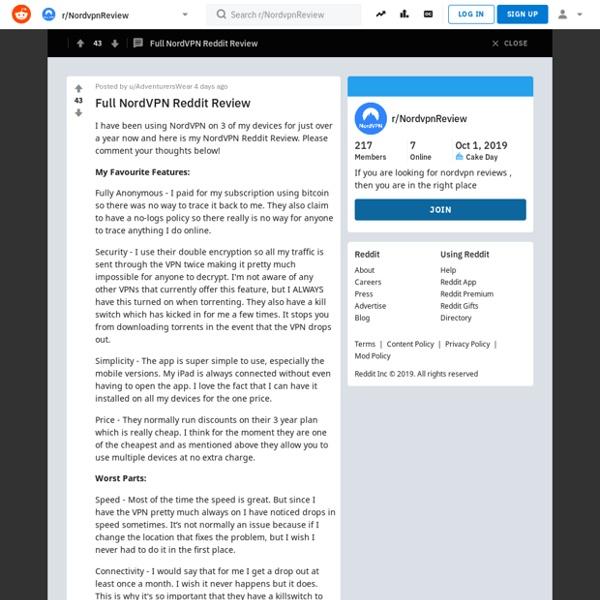 Full NordVPN Reddit Review : NordvpnReview