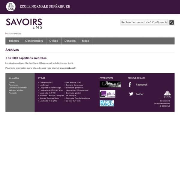 Savoirs ENS Archives - Ecole normale supérieure