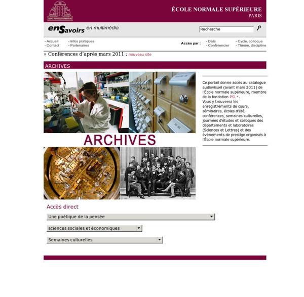 Ecole normale supérieure - Archives
