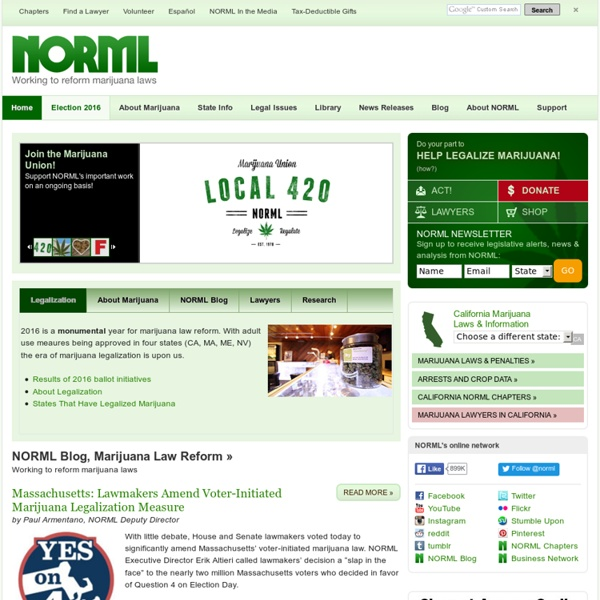 NORML.org - Working to Reform Marijuana Laws - NORML.org - Working to Reform Marijuana Laws