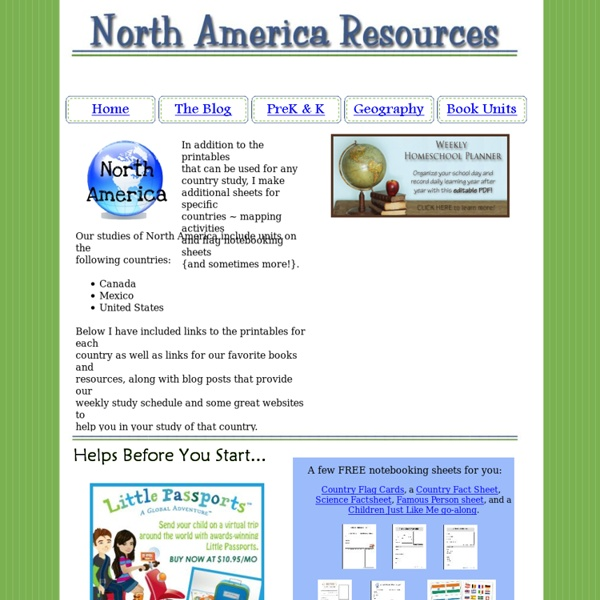 North America Lesson Plans and Resources