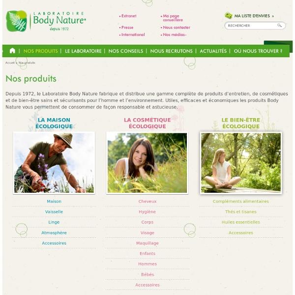Produits biologiques pour la maison la beaut et la sant pearltrees - Produits body nature ...