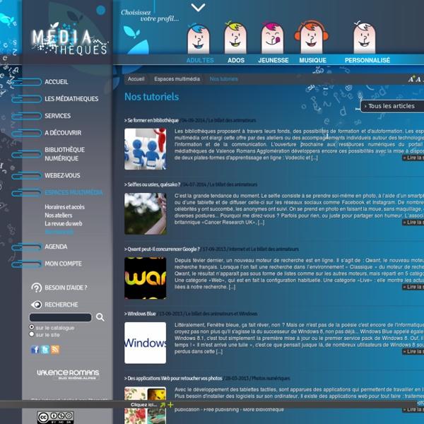 Médiatèque / Tutoriels