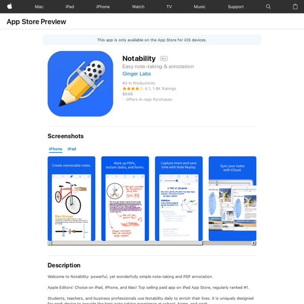 Notability - Take Notes & Annotate PDFs