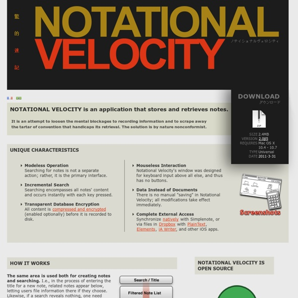 Notational Velocity