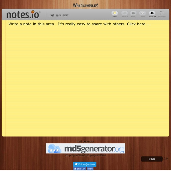 Online Notes Services