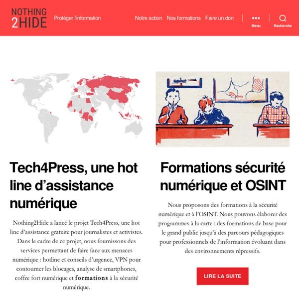 Nothing2Hide : protéger l'information