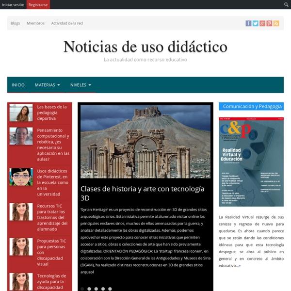 Noticias de uso didáctico