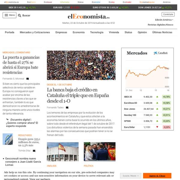 Líder en noticias de economía, bolsa y finanzas. - elEconomista.es