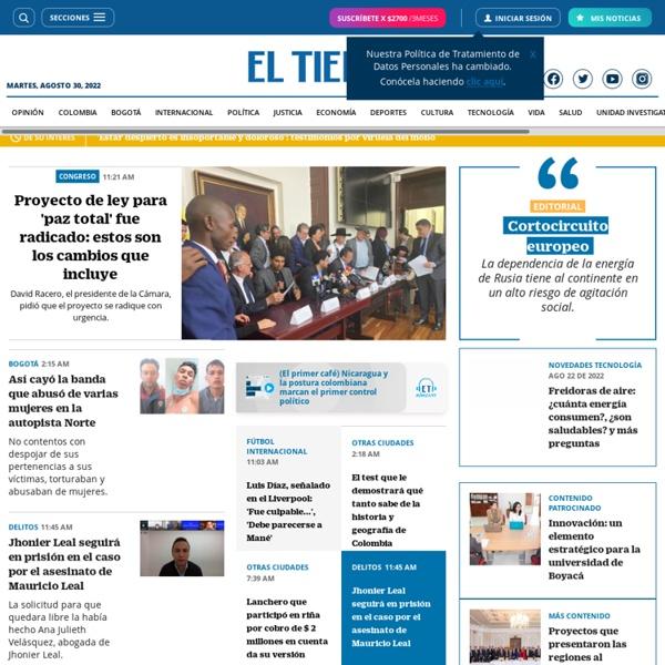 Principales Noticias de Colombia y el Mundo - ELTIEMPO.COM