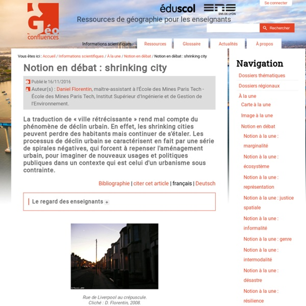 Notion à la une : Shrinking city (Nov2016)