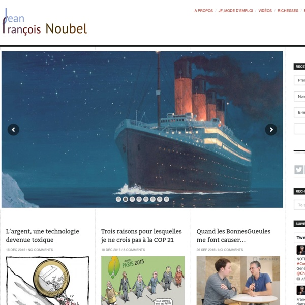 Jean-François Noubel's blog —