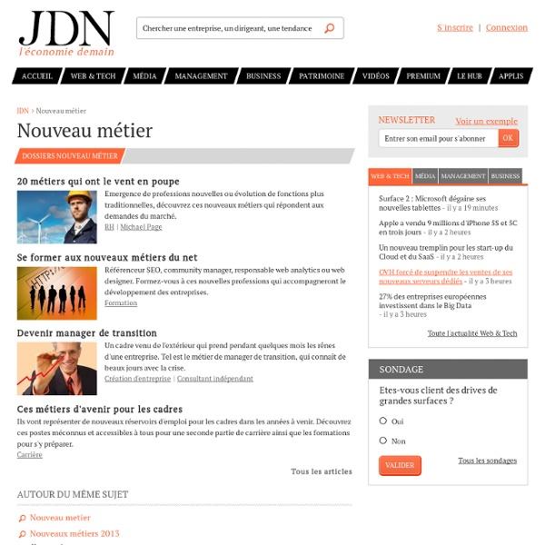 Nouveau métier sur JDN : toutes les actualités et tendances Nouveau métier