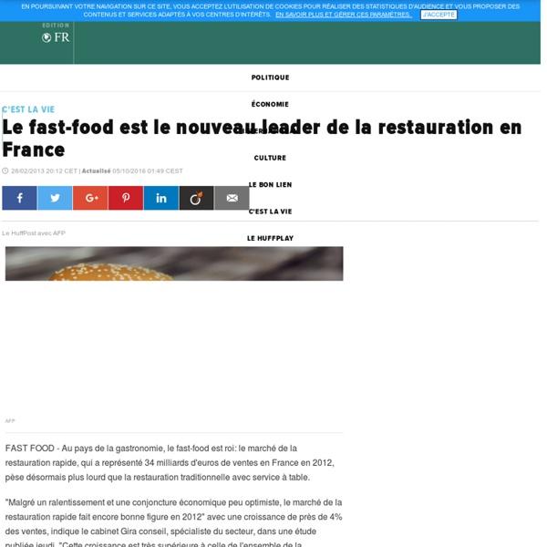 Le fast-food est le nouveau leader de la restauration en France