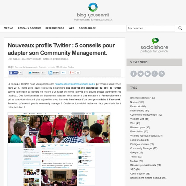 Nouveaux profils Twitter : 5 conseils pour adapter son CM