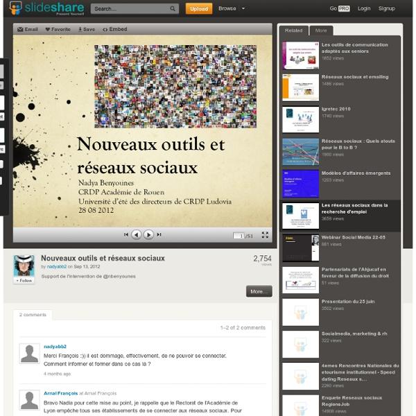 Nouveaux outils et réseaux sociaux