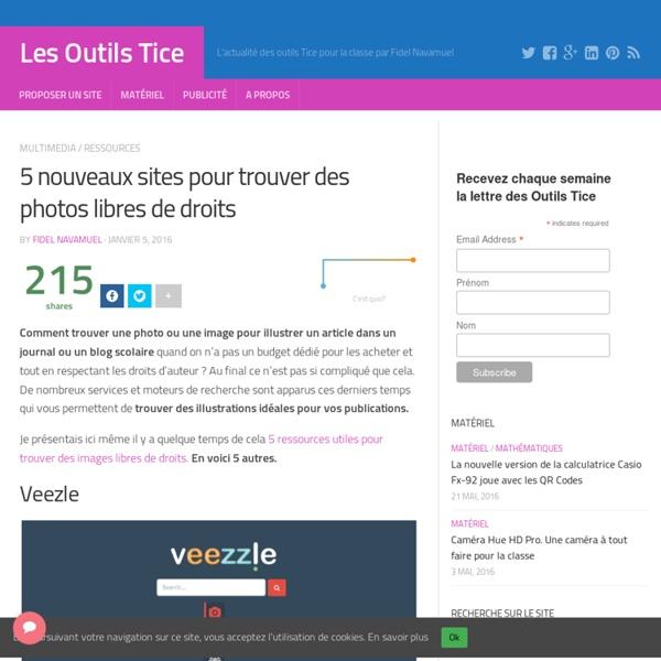 5 nouveaux sites pour trouver des photos libres de droits