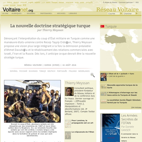 La nouvelle doctrine stratégique turque, par Thierry Meyssan