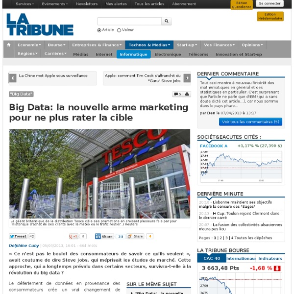 Big Data: la nouvelle arme marketing pour ne plus rater la cible